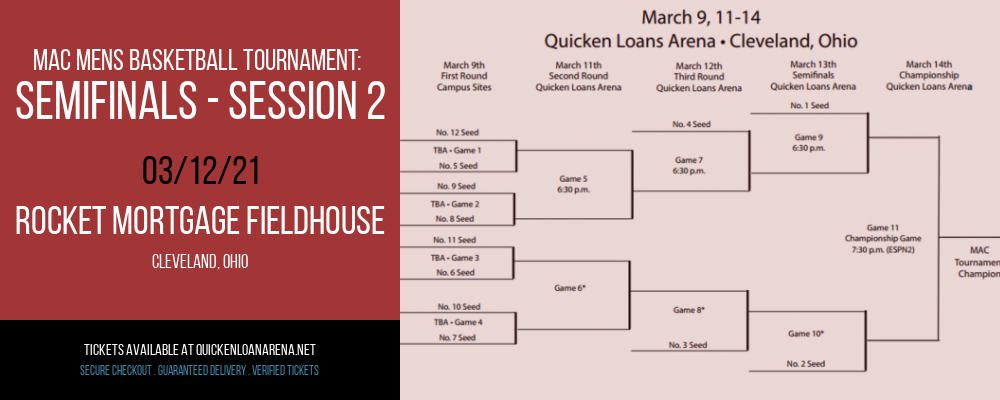 MAC Mens Basketball Tournament: Semifinals - Session 2 at Rocket Mortgage FieldHouse